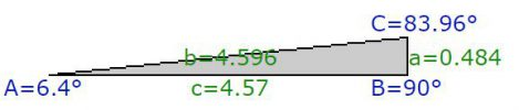 Calculation of track width at straight.