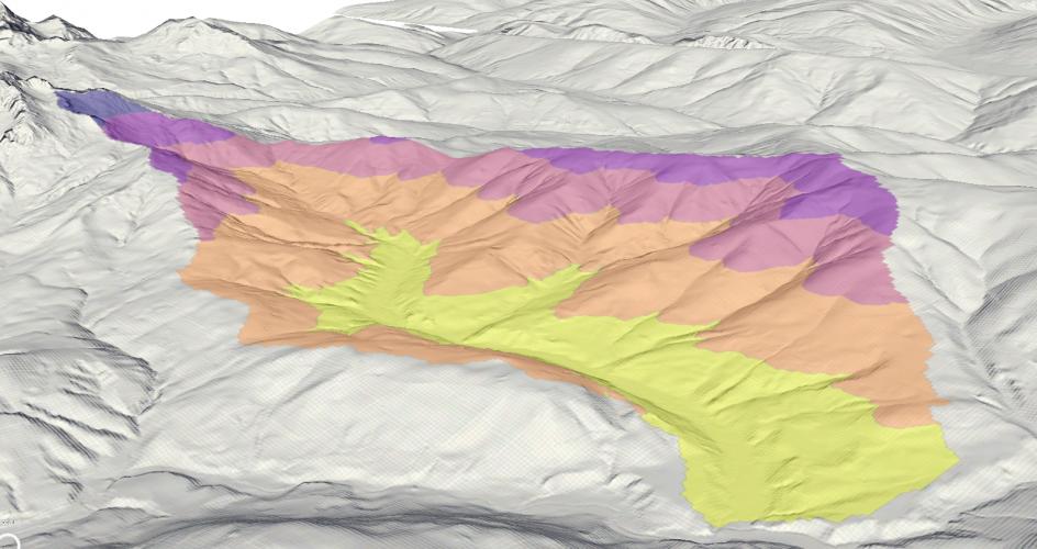 Image 5: 3D-Rendering of elevation zones.