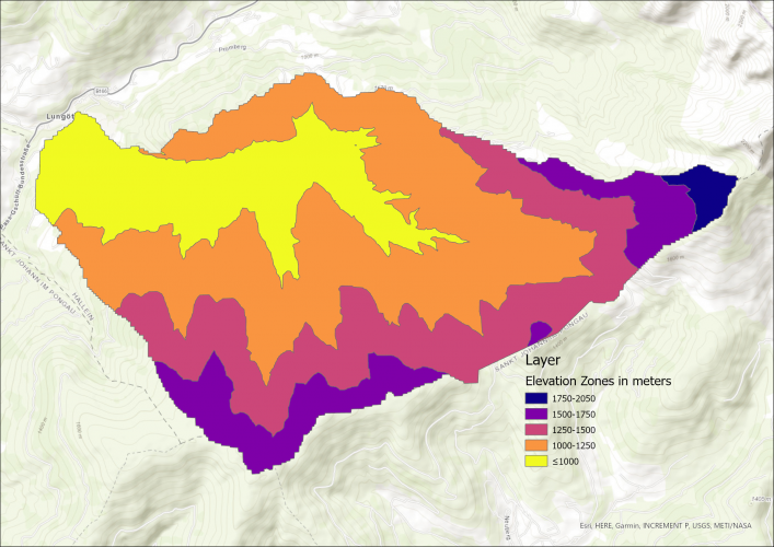 Image 4: Map of Elevation Zones.